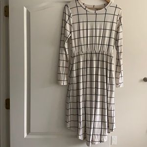 Black and Cream Checkered Dress